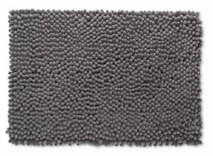 "Room Essentials 17"" x 24"" Chunky Chenille Memory Foam Bath Rug Pigeon Gray, NEW"