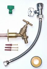Outside Tap Kit | Through Wall Flange, Self Cut Valve and Flexi Connector