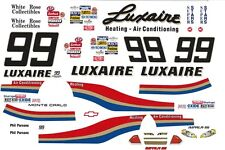 #99 Phil Parson Luxaire Chevy 1/32nd Scale Slot Car Decals