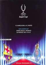 Super cup 2011 Barcelone V FC Porto programme