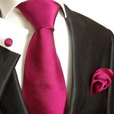 Pinke Krawatten Set 3tlg Seide beere Paul Malone 942