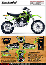 1982-2002 KAWASAKI KX 60 Bad Boy Motocross Graphics Dirt Bike Graphics KIT