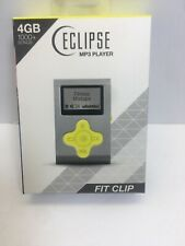 "ECLIPSE Eclipse Fit Clip SL/YW 4GB 1"" MP3 Player Silver/Yellow"