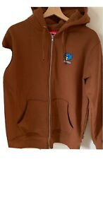 Supreme FW17 Gonz Ramm Zip Up Sweatshirt Hoodie S RED barely worn