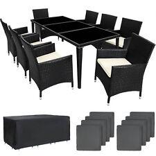 Ensemble salon de jardin en aluminium résine tressée poly rotin set table neuf