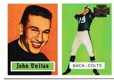 2001 Topps Archives Johnny Unitas Baltimore Colts #46 Football Card