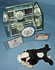 "Beanie Baby ""RAREST"", Chicago Cubs Harry Caray, Daisy the Cow, ERROR-NO EYES !!"