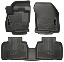 Husky Liners 2015-2018 Ford Edge Floor Mats Front and Rear Black WeatherBeaters