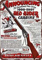 "1940 Daisy Red Ryder BB Gun Vintage Rustic Retro Metal Sign 8"" x 12"""