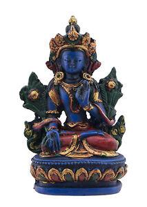 Soprammobile Tibetano Da Verde Tara Meditazione IN Resina Budda 9cm - 5942 Gar 3