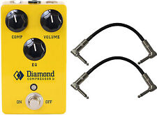 Diamond Comp. Jr Optical Compressor and Eq Guitar Pedal Bundle with Cables