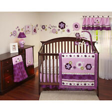 9pc pretty in purple crib bedding set by nojo