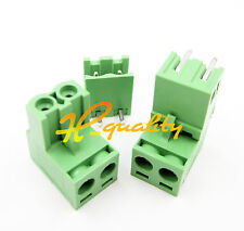 10pcs 2EDG 5.08mm Pitch 2Pin Plug-in Screw Terminal Block Connector Right Angle