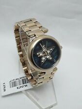 Marc jacobs Dotty Women's Gold  Tone Steel Band Star Spangled Dial Watch MJ3478