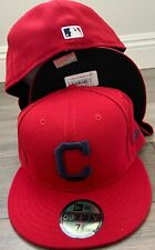 New Era Cap 59FIFTY Cleveland Indians on field RED NAVY C ALT Hat Fitted 5950