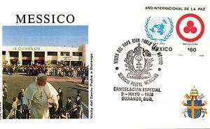 002- FDC VATICAN VISITE PAPE JEAN PAUL II  AU  MEXIQUE 1990