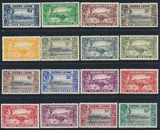 1938-1944 SIERRA LEONE DEFINITIVES SET OF 16 MINT (MNH & MH) SG188-SG200