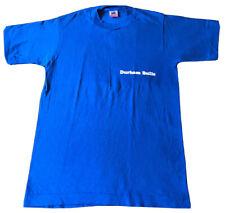 Vtg Durham Bulls T-Shirt North Carolina Minor League Baseball Blue FOTL Sz Small