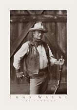 John Wayne by Bob Willoughby - The Cowboys Movie Photo Art Print Poster 21x32
