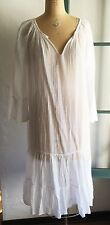 DOSA by Christina Kim White Peasant Dress SZ 2 M