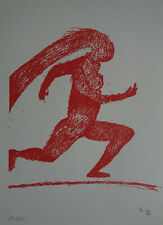 Fine Limited Pop Art Surrealism Figure screenprint, signed & stamped,