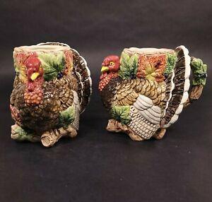 Fitz and Floyd Omnibus Collection Harvest Fowl Turkey Mug