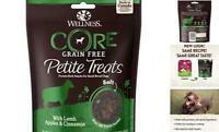 Wellness Petite Treats Small Breed Grain Free Dog 6 oz. Soft Lamb & Apples