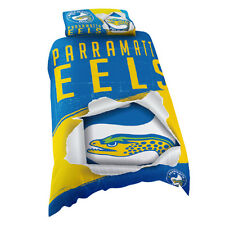 Parramatta Eels NRL SINGLE Bed Quilt Doona Duvet Cover Set *NEW 2019* GIFT
