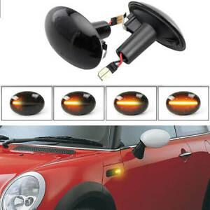 For Mini Cooper R55 R56 R57 R58 R59 Dynamic Smoke LED Side Marker Fender Lights