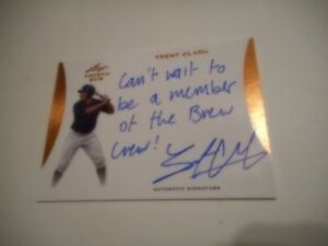 Trent Clark Grisham 2015 Leaf Trinity Autograph #1 San Diego Padres