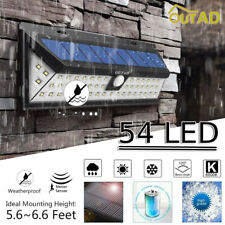 54Led Solar Waterproof Pir Motion Sensor Garden Outdoor Security Wall Light Us