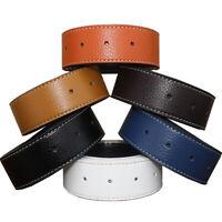 3.7cm Men Adjustable Leather Pants Waist Strap Band Belt without Buckle Sanwood