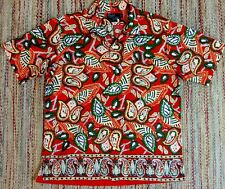 Vintage 90s POLO By RALPH LAUREN Mens S/S Rare All Over Print Shirt XL