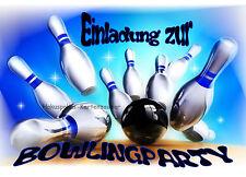8 Einladungskarten Bowling Geburtstag Kinder Kindergeburtstag Einladungen