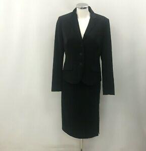 L.K. Bennett Outfit Women's UK 12 Black Skirt Jacket Dress 3-Piece Suit 183427