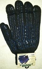 (3) Pairs Forester Mens PVC Grip Work Gloves, Black and Blue, Lot of 3 Pairs