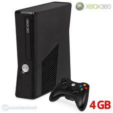 Microsoft Xbox 360 - Konsole Slim 4GB #matt-schwarz + Original Controller + Zub.