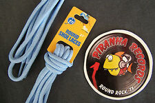 "Baby Blue Thin Round 27"" x (1/8""-3/8"") JN Shoelaces Shoe Strings Piranha Records"