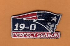 RARE NEW ENGLAND PATRIOTS 2inch PATCH 19-0 PERFECT SEASON HAT SHIRT Uncirculated