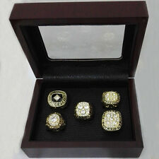 Edmonton Oilers Hockey  1984/85/87/88/90 Championship Rings Sets Wooden Boxes US