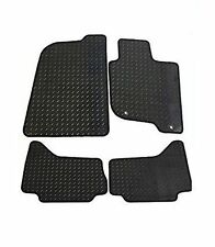 KIA Rio 2011 Onwards Tailored Rubber Car Mats Black WITH Black Trim