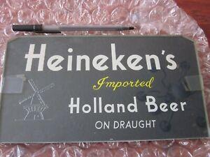 heineken glass beer sign vintage