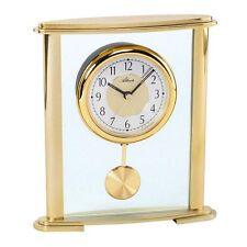 Pendulette de table à balancier, boitier métal couleur or, Atlanta, NEUVE 3069
