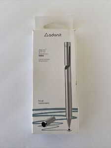 Adonit PRO 3 Fine Point Precision Disc Stylus for All Touchscreens - Silver