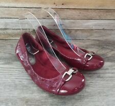 LAUREN by RALPH LAUREN Cranberry Red Ballet Flats, Size 6 B, EUC Nice Color!