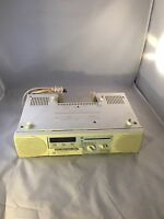 Vintage General Electric GE Spacemaker Clock  AM FM Cassette Model No. 7-4287A