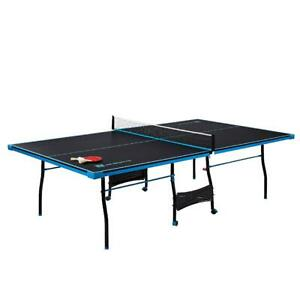 Table Tennis Indoor Official Outdoor Folding Ping Pong Table 2 Paddles Balls