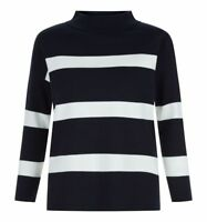 Hobbs Marina Navy Ivory Sweater. Various Sizes. RRP £79. NEW WITH TAGS.