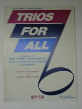 Trios for All B Flat Clarinet Kenneth Henderson Albert Stoutamire Sheet Music