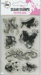 NEW Clear Acrylic Craft Stamp Set Twilight light Birds